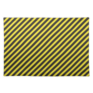 Striped Construction - Yellow & Black Diagonal Place Mat