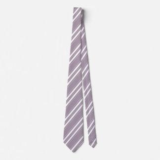 Striped Contemporary Rose Quartz Tie