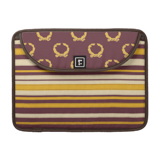 Striped Crest Style Rickshaw Sleeve for MacBooks