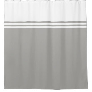 Striped, Customizable Neutral Color Shower Curtain