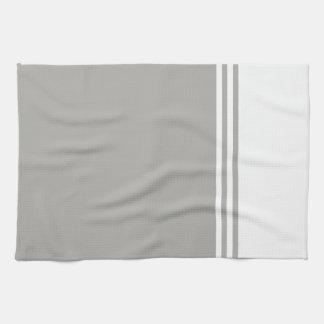 Striped, Customizable Neutral Color Tea Towel