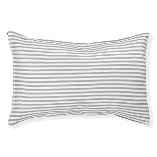 Striped Dark Gray Pet Bed