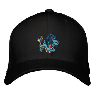Striped Dragon Embroidered Baseball Cap