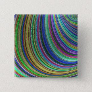 Striped fantasy 15 cm square badge