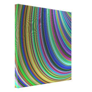 Striped fantasy canvas print