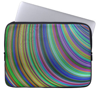 Striped fantasy laptop sleeve