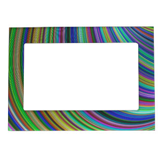 Striped fantasy magnetic picture frame