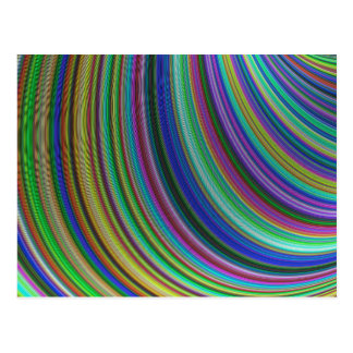 Striped fantasy postcard