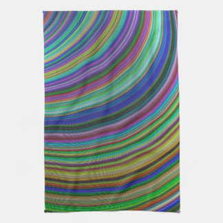 Striped fantasy tea towel