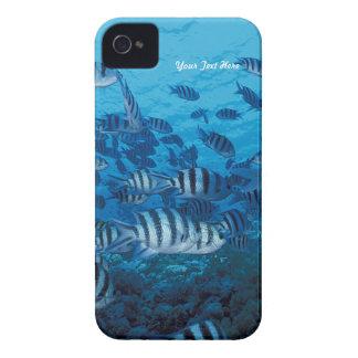 Striped Fish School - Customize iPhone 4 Case-Mate Cases