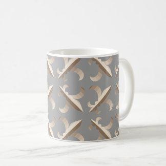 Striped fleur de lis pattern coffee mug