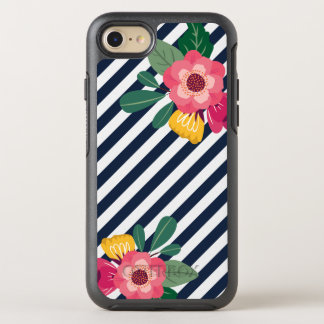 Striped Floral Otterbox Phone Case