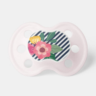 Striped Floral Pacifier