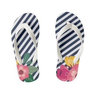 Striped Floral Sandals