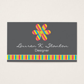 Striped Flower Business & Calling Cards