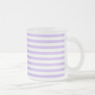 striped frosted mug