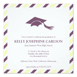 Striped Graduation Announcement Template