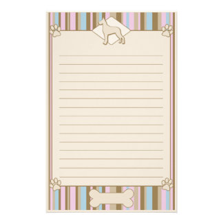 Striped Great Dane Stationery