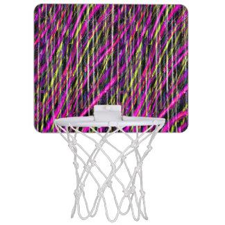 Striped Grunge Mini Basketball Hoop