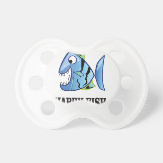 striped happy fish baby pacifiers
