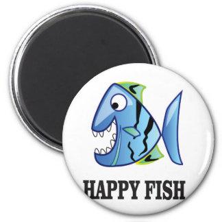 striped happy fish magnet