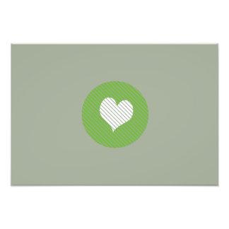 Striped heart Green Photo