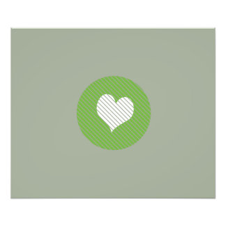 Striped heart Green Photo Art