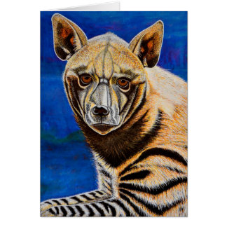 Striped Hyena Greet Card