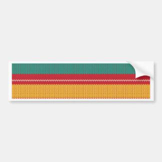 Striped Knitting Background Bumper Sticker