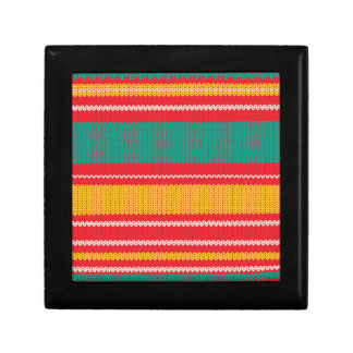 Striped Knitting Background Gift Box