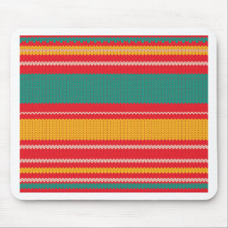 Striped Knitting Background Mouse Pad