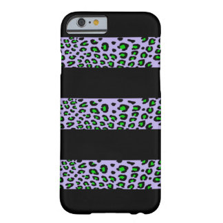 Striped Leopard Print (Customizable Colors) Barely There iPhone 6 Case