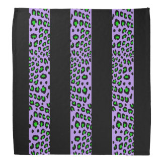 Striped Leopard Print (Customizable Colors) Kerchief