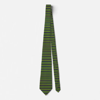 Striped Lime Green Black Trendy Fashion Tie