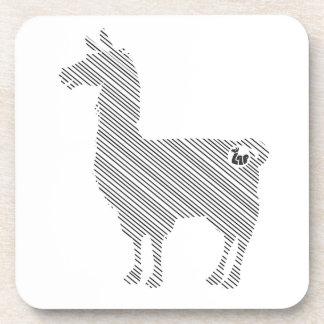 Striped Llama Coasters