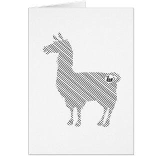 Striped Llama Greeting Card