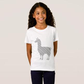 Striped Llama Kids T-Shirt