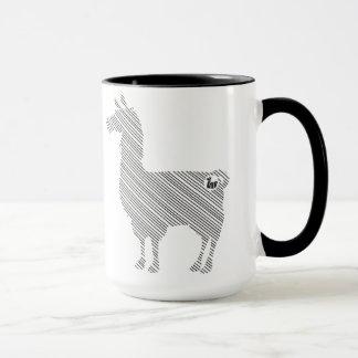 Striped Llama Mug