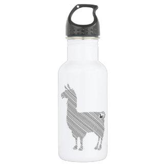 Striped Llama Water Bottle
