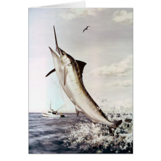 Striped Marlin Card