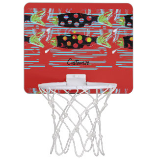 striped migrating fish any color Thunder_Cove Mini Basketball Hoop