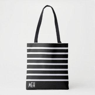 Striped Minor Monogram Tote Bag