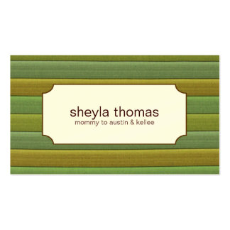 Striped Mommy Calling Cards Pack Of Standard Business Cards