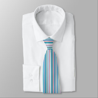Striped Multi Coloured Tie