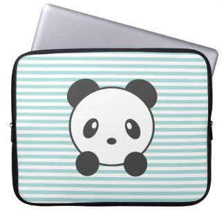 Striped panda laptop sleeve