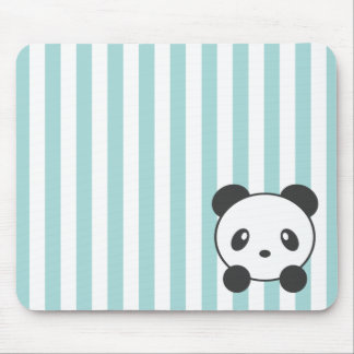 Striped Panda Mouse Pad