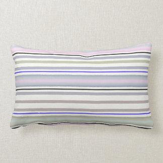 Striped pattern lumbar pillow