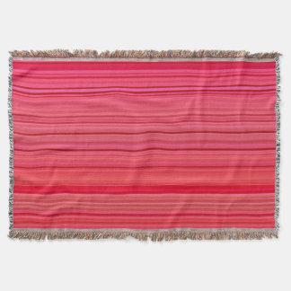 Striped Pattern Print Red Throw Blanket