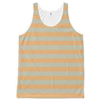 Striped peach All-Over print singlet