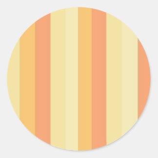 Striped Peaches and Cream Round Sticker